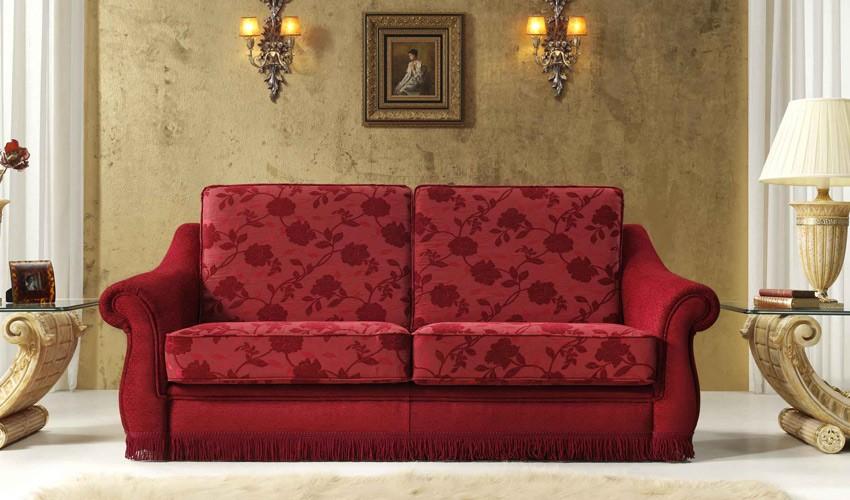Sofá cama 1 plaza rojo