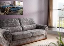 Sofá cama de corte clásico