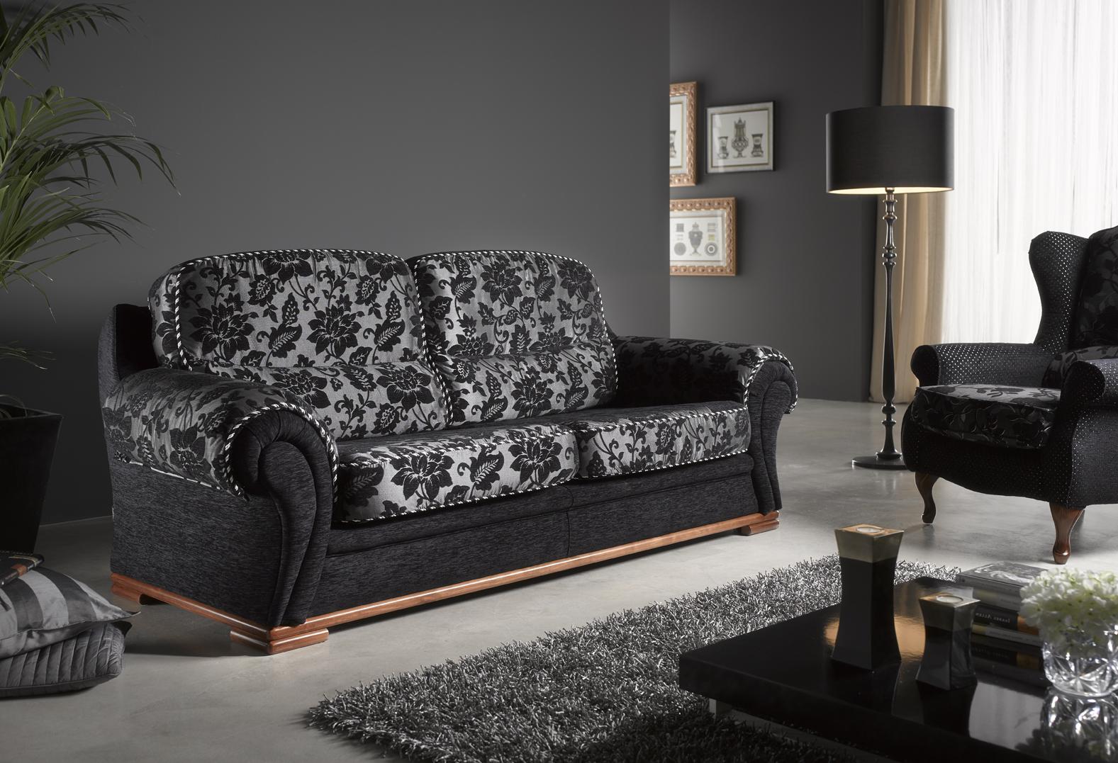 Sofá cama individual estampado