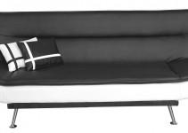Sofá cama moderno en blanco y negro
